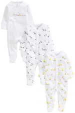 ВNWT NEXT Baby Playsuits Outfit • Noah's Ark Sleeps 3pk • 100% Cotton • 1 Month