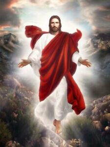 3D Heaven Jesus Religion Cloud Faith Paint By Numbers Canvas Wall Art Painting