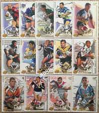 2002 SELECT CHALLENGE NRL CLUB PLAYER OF THE YEAR COMPLETE 14 CARDS INSERT SET