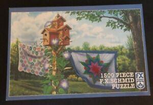 FX SCHMID 1500 PIECE Jigsaw Puzzle Summer Breeze New Sealed