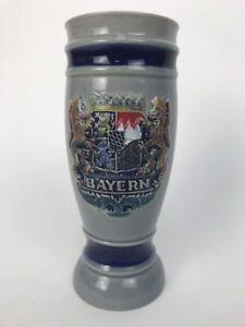Bever Bayern Beer Stein  Handgemalt WEST GERMANY- Collectible Blue Hand Painted