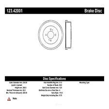 Brake Drum-Wagon Rear Centric 123.42001