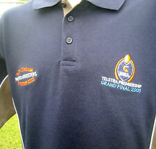 NRL GRAND FINAL 2003 PANTHERS v ROOSTERS Polo Shirt (L) NEW w/tags!
