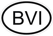 BVI îles Vierges britanniques code pays Autocollant OVAL