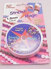 Stretch Magic Clear 1mm diameter 5 meter Spool Round Stretchy