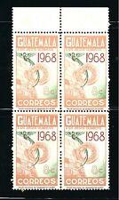 Guatelmala Stamps- Scott # 401/A154-8c-Mint/Lnh-1968 -Block of 4-Og