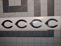 CHROME Vinyl Cincinnati Reds fire helmet decal sticker RTIC up to 12 inches