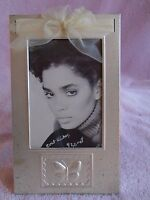 """VINTAGE CARR 5"""" x 7"""" SILVER METAL DECORATED FRAME the Picture if FREE"""