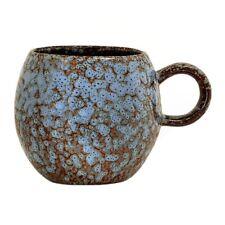 Bloomingville Stoneware Paula Mug In Blue Brown Speckeled Design Handmade