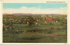 Bird's Eye View of Indiana PA Postcard