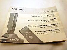 Canon LC-2 sans Fil Contrôleur Instructions Manuel Guide En Fr Sp Gr
