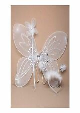 Childs White Fairy Fancy Dress Costume Accessory Set Dress Up Play P9560