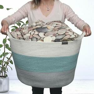 """Cotton Rope Basket Extra Large by RainMeadow 20"""" x 20"""" x 13""""  Free Shipping"""