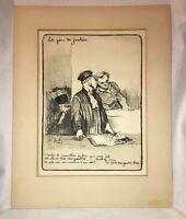 "Honore Daumier ""Les Gens De Justice"" Etching, French Artist (1808 - 1879)"