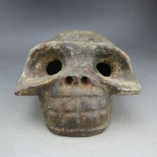 China, jade,collectibles,manual sculpture,jade,Human skull, statue C447