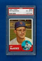 1963 TOPPS BASEBALL #393 KEN MacKENZIE PSA 6 EX-MT  NEW YORK METS
