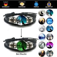 ★ Surferarmband Wolf leuchtend | Geschenk | Bracelet | Wölfe | Freundschaft | 01