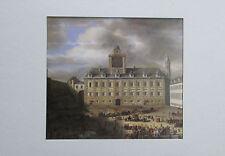 Samuel von Hoogstraten DER INNERE BURGPLATZ Wien im Passepartout Kunstdruck