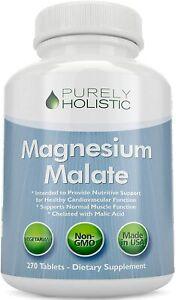 Magnesium Malate 400mg 270 Vegetarian Tablets Chelated Supplement & Malic Acid