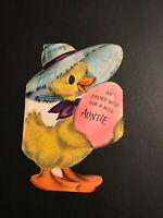 VINTAGE GREETING CARD DIE CUT EASTER DUCKLING * HALLMARK* 1950'S