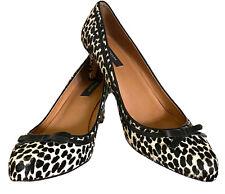 Ann Taylor Sandy Snow Leopard Kitten Size 9M Women's High Heel Pumps