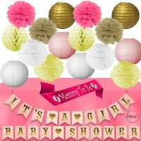 Baby Shower Decorations for Girl Its a Girl Banner Table Pink Gold Decor Set