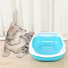 Pet Cat Cleaning Litter Box Semi-closed Toilet Training Cleaning Pan with Shovel