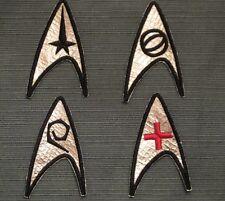 Star Trek TOS Original Series Insignia Patches - Set of 4 USS Enterprise Uniform