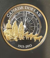 2013 Canada Arctic exploration silver dollar gold plated 1913-2013 from SE set