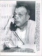 1957 Northeast Airlines Pilot Captain Alva Marsh After Crash Press Photo