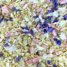 Biodegradable Pink Lilac IVORY Wedding Confetti NATURAL Petals DYE-FREE 7 Guests