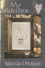 """Blackbird Designs  """"My Valentine"""" Cross Stitch Chart OOP"""