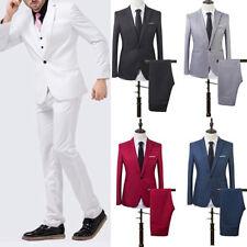 IG_ FT- Men's Wedding Groom Suit Slim Fit Jacket Tuxedo Pant Hot Formal Suit 2pc