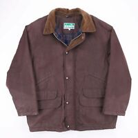 Vintage DIADORA Brown Lined Wax Style Outdoor Jacket Men's Large