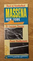 Vintage 1960 Massena NY St. Lawrence Seaway Power Project Map Vacation Brochure