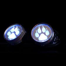 PAWSTAR LED Goggles - Light Up Blue Paw Print Cyberpunk cybergoth [BL/PAW]5416