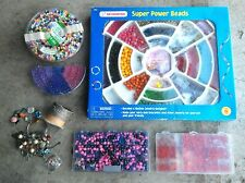 Rare - Assorted Beads And Jewelry Making Supplies Mixed - Please See Pictures