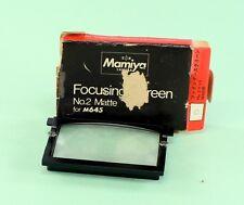 Mamiya M 645 Focusing Screen No. 2 Matte