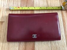 100% AUTHENTIC CHANEL VINTAGE RED LEATHER WALLET VeryGoodCondition