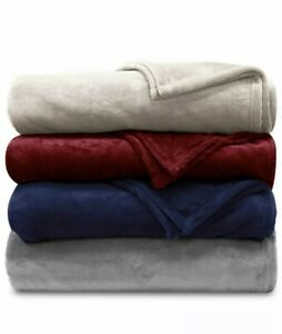 Ralph Lauren Soft Blanket White Cream Micromink Plush Full / Queen New Free Ship