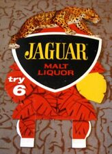 VINTAGE GRAPHIC JAGUAR MALT LIQUOR BEER CARDBOARD BOTTLE TOPPER ROCHESTER NY