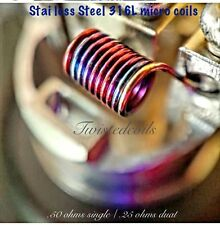 (20) Stainless Steel 316L Micro Coils (Clapton Twisted Rba Rda Vape Coils)