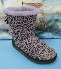 UGG Size 4 Classic Short Black Leopard Spot Boots