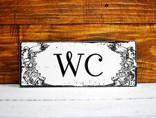 Türschild WC Toilettenschild in Shabby Chic T013