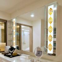 10PCS 3D-Mirror Flower Removable Wall Sticker Art Acrylic Mural Decal Home Decor
