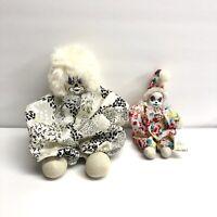Vintage Porcelain Clowns With Sand Bag Body. (C)