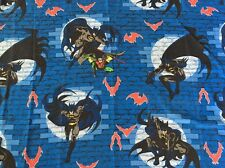 "Vintage DC Comics Batman &Robin Bed Sheet Twin Size Flat Sheet (64"" x 96"") 1999"