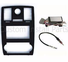Chrysler 300 Double Din Dash Kit with Factory Nav Premium Wiring Harness Radio