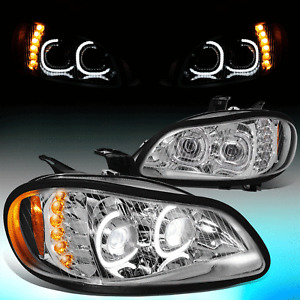 For 2003-2019 Freightliner M2 106 112 LED DRL Turn Signal Projector Headlights