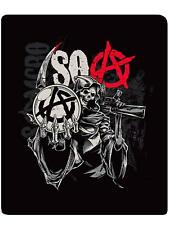 Sons Of Anarchy SOA Reaper Red A Samcro Gun Sherpa Soft Throw Blanket NEW